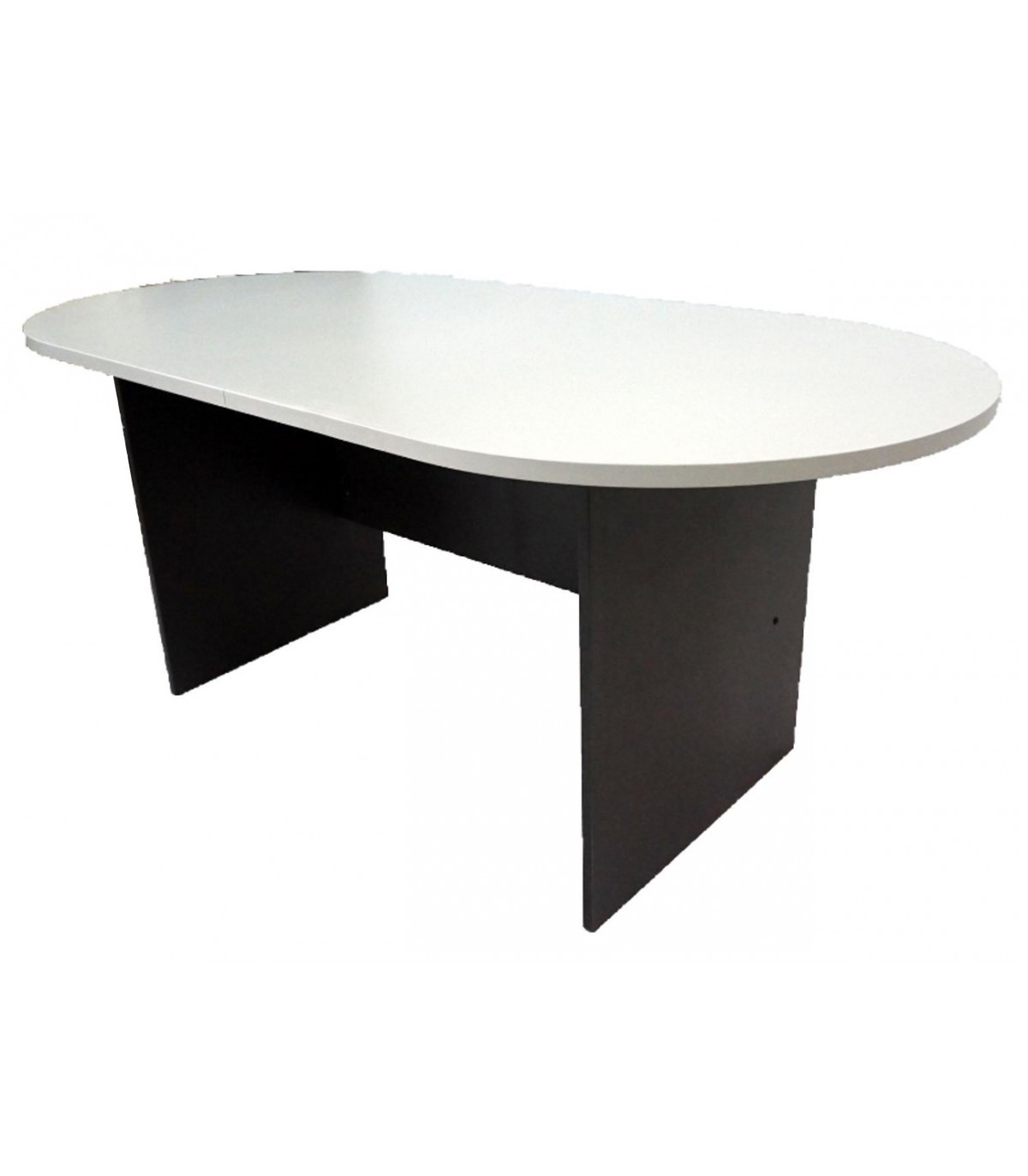 Picture of: Buy Oval Meeting Table In 2 Tone Grey Colour