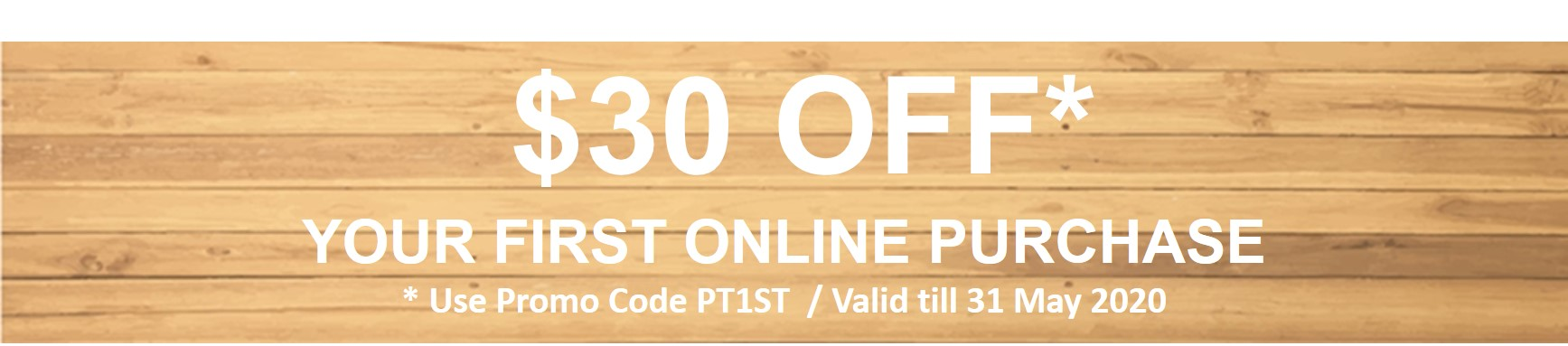 $30 Off your 1st Online Purchase